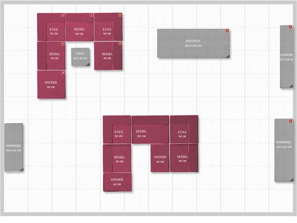 Q system sofa zeitloses design eine wohnlandschaft q for Raumplaner einfach